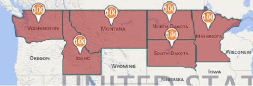 Темпы сева яровой пшеницы по штатам