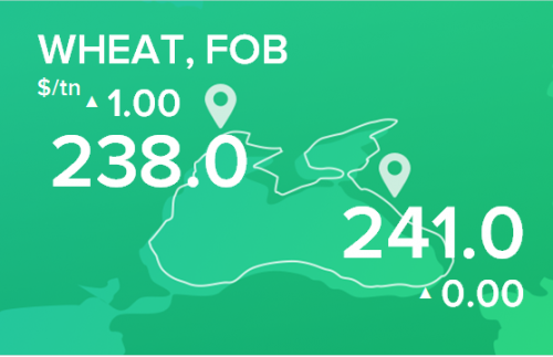 Пшеница. Цены FOB. Данные на 14.01.2019