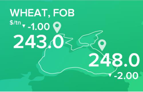 Пшеница. Цены FOB. Данные на 18.02.2019
