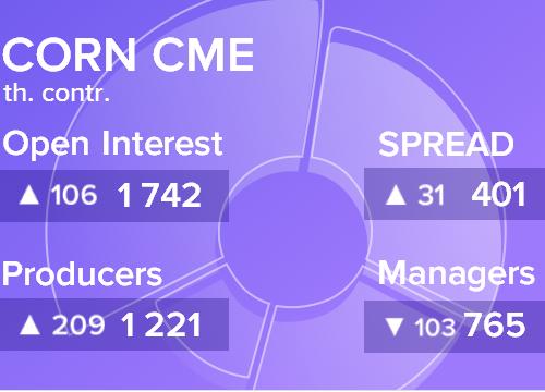 Отчет по открытому интересу. Кукуруза, CME Group на 25.05.2019