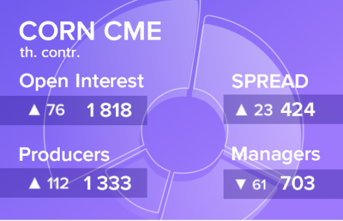 Отчет по открытому интересу. Кукуруза, CME Group на 01.06.2019