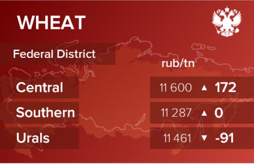 Обзор цен EXW по регионам РФ за неделю с 24 по 28 февраля 2020