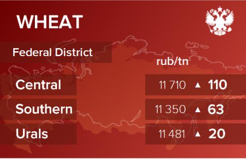 Обзор цен EXW по регионам РФ за неделю с 02 по 06 марта 2020