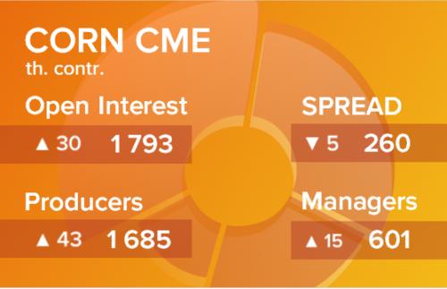 Кукуруза. Открытый интерес на 17 апреля 2021