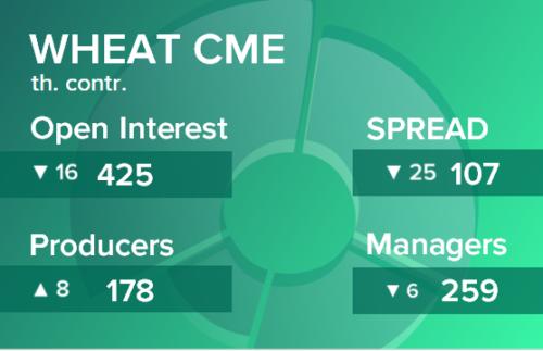 Пшеница. Открытый интерес на 1 мая 2021